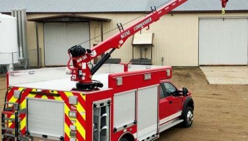 Custom rescue centre with crane
