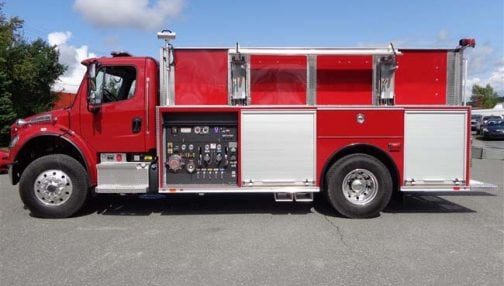 Custom fire truck with panel controls