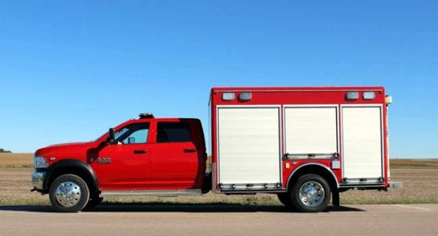 Custom rescue truck on Ford chassis