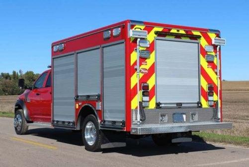 Custom rescue fire truck