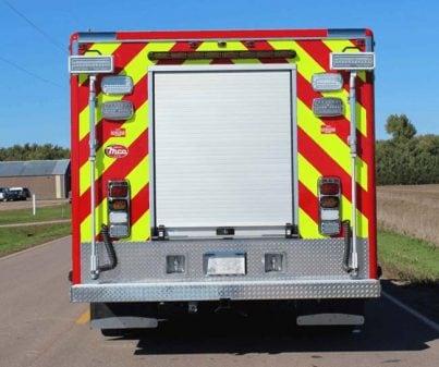 Back of custom fire truck