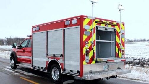 Custom rescue centre with rear compartment
