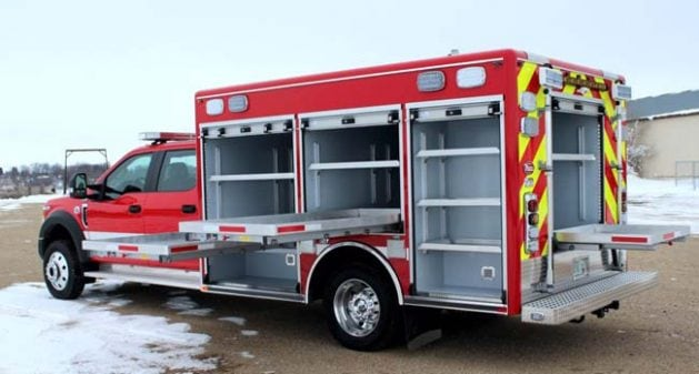 12' walk-around rescue on Ford F550