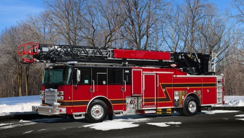 Custom fire truck for the Whitby fire department