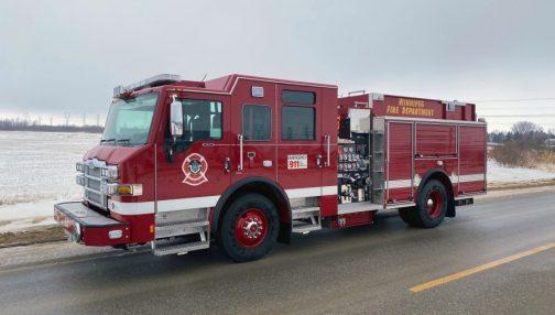 Impel pumper truck for the Winnipeg fire department
