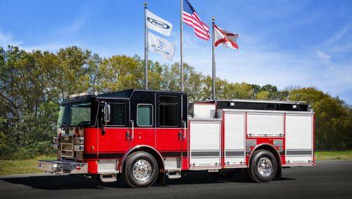 Custom fire truck for the Woodstock fire department