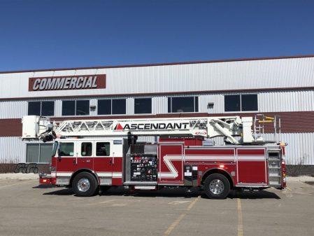 Pierce 110' Ascendant Aerial Platform from Drumheller Fire Department