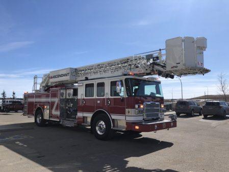 Custom fire truck from the Drumheller fire department