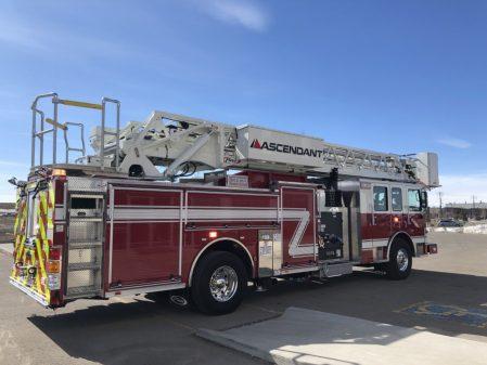 Custom fire truck for the Drumheller fire department