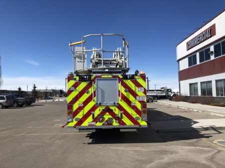 Back of Drumheller fire department apparatus