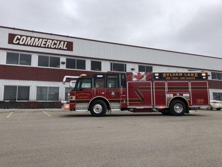 Pierce Pumper Fire Truck for Sylvan Lake fire department
