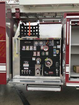 Pierce Enforcer 107' Ascendant driver side pump panel