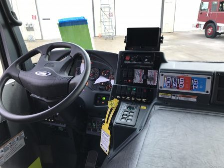 Pierce Enforcer 107' Ascendant driver dash