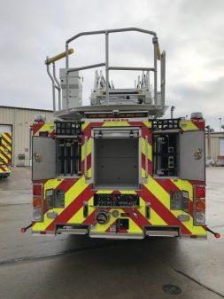 Pierce Enforcer 107' Ascendant - rear compartments open